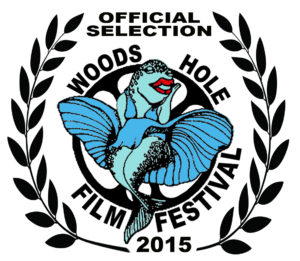The Woods Hole Film Festival official selection logo 2015 Marilyn Codroe logo created for WHFF, Inc. by Tessa Morgan Lineaweaver